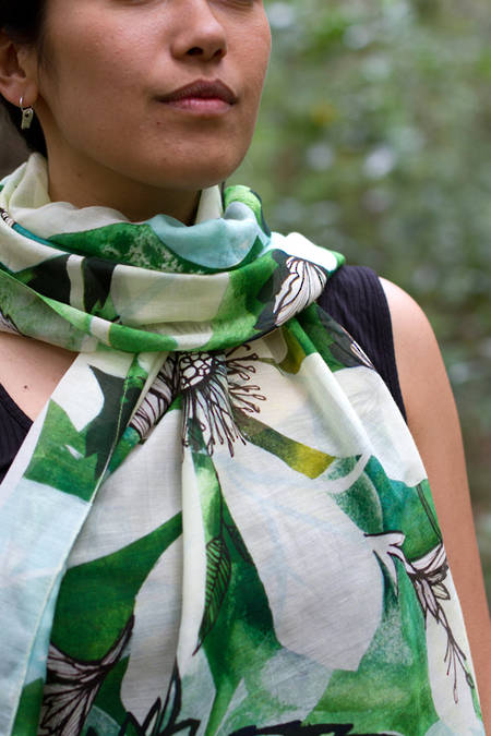 Puawananga cotton silk scarf