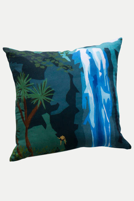Waterfall Zoom  linen cushion