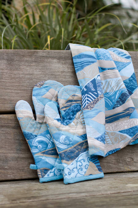 Oven Glove + Tea Towel Set
