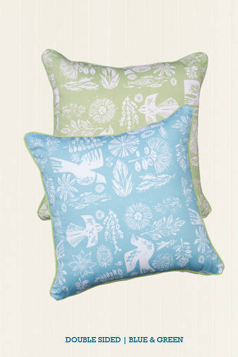 Kupe Fern Piped Cushion