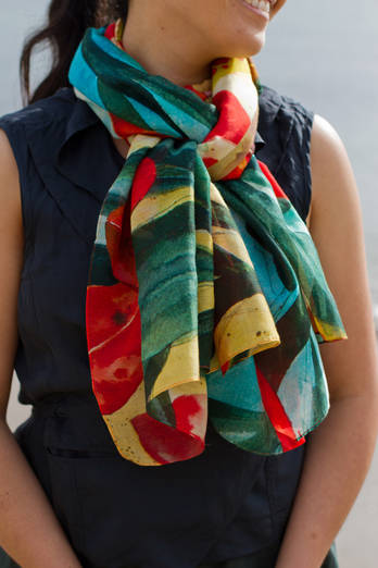 Summer Tide cotton silk scarf