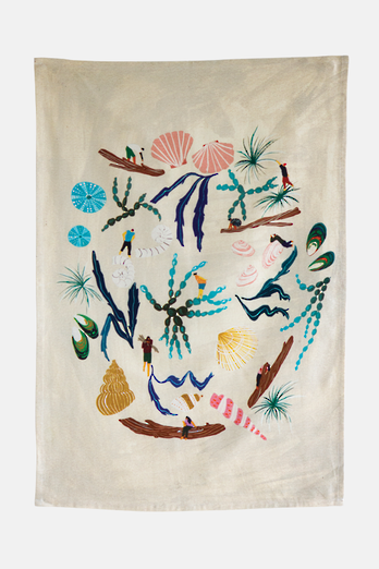 Flotsam Tea Towel