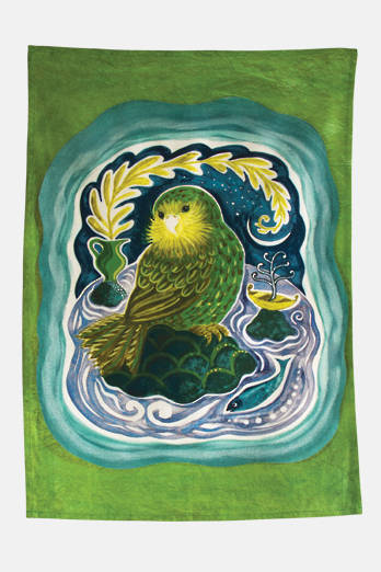 Kākāpō Tea Towel