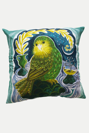 Kakapo  linen cushion