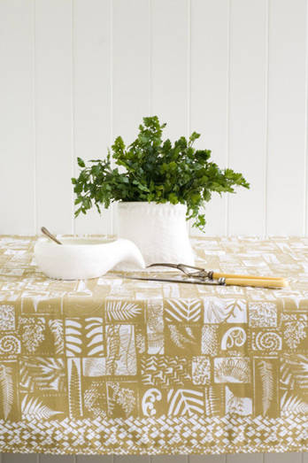 Kohinga Flax Gold Tablecloth