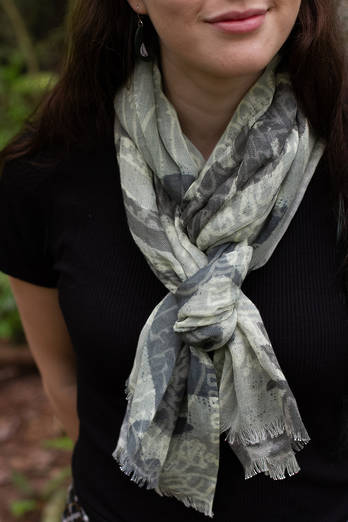 Mamaku linen Cotton scarf