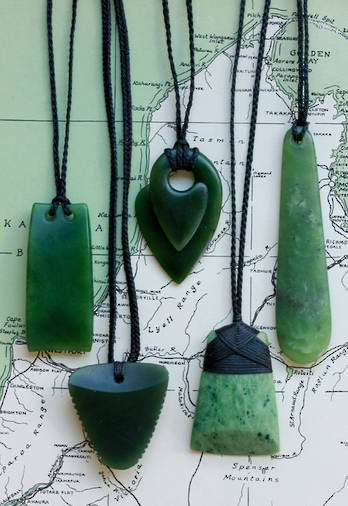 Carved Pounamu pendants