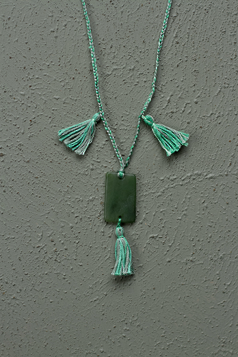 Braided Pounamu Necklace - Wha