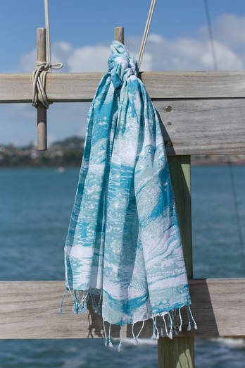Sea Sparkle Summer Scarf