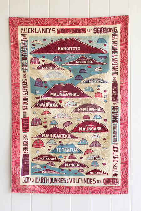 Aucklands Volcanoes- Regatta Tea towel