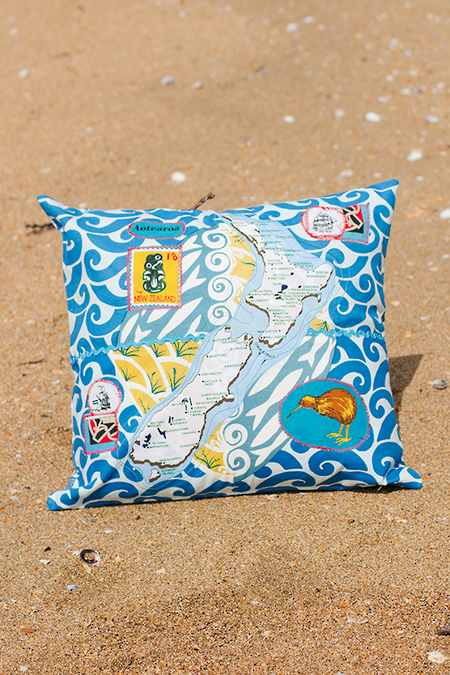 NZ Map Cushion