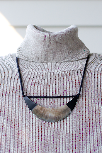 Mother of Pearl Rope Necklace