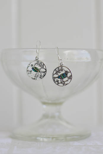 Paua Tui earrings