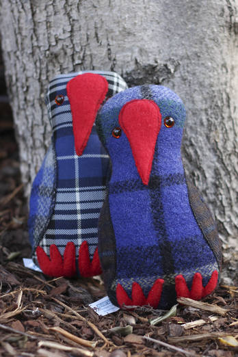 Pukeko Softie with rattle