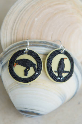 Huia resin earrings