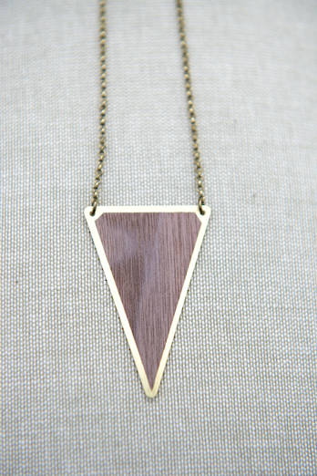 Tri Walnut Necklace